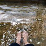 足湯と足場